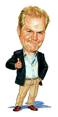 Caricature Painting - Jim Gaffigan by Art