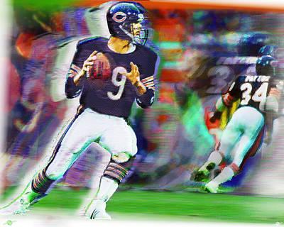 Jim Mcmahon With Walter Payton Chicago Bears Original by Tony Rubino