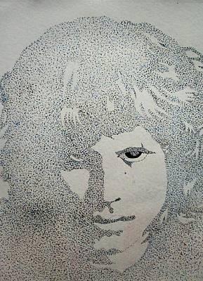 Artist Richard Brooks Drawing - Jim Morrison 2. By Richard Brooks. by Richard Brooks