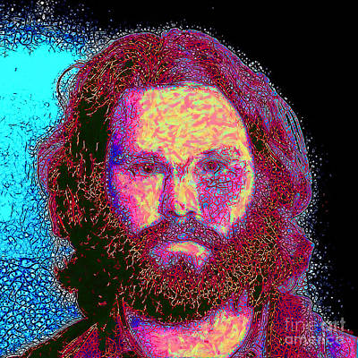 Music Digital Art - Jim Morrison 20130329 Square by Wingsdomain Art and Photography