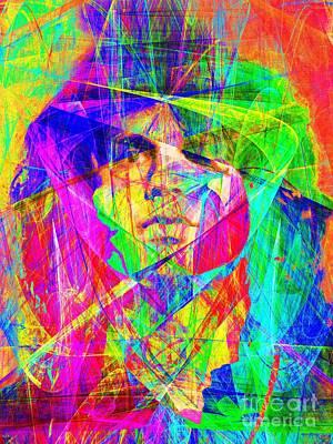 Music Digital Art - Jim Morrison 20130613 by Wingsdomain Art and Photography