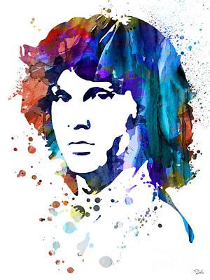 Morrison Painting - Jim Morrison by Luke and Slavi