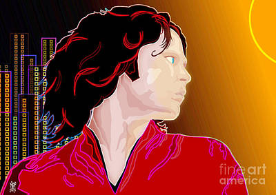 Rnb Mixed Media - Jim Morrison by Neil Finnemore