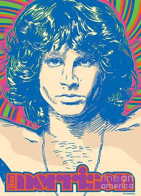 Jim Morrison Pop Art Print by Jim Zahniser