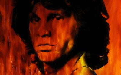 Jim Morrison Print by Steve K