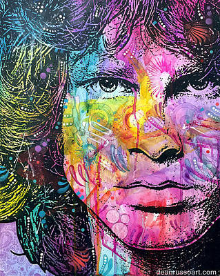 Painting - Jim Morrison The End by Dean Russo