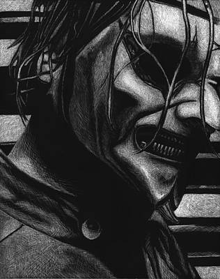 Corey Drawing - Jim Root by Mike Shaw