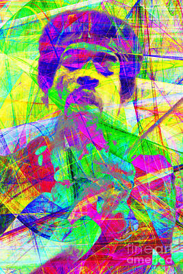 Rolling Stones Digital Art - Jimi Hendrix 20130613 by Wingsdomain Art and Photography