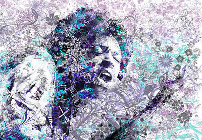 Jazz Digital Art - Jimi Hendrix 3 by Bekim Art