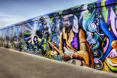 Rock Music Art Photograph - Jimi Hendrix Art by Ian Mitchell