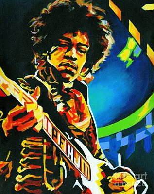 Bold As Love. Jimi Hendrix  Print by Tanya Filichkin