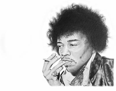Jimi Hendrix Print by Don Medina