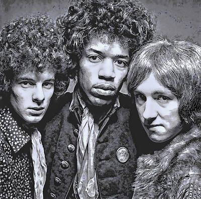Experiences Digital Art - Jimi Hendrix Experience  1967 by Daniel Hagerman