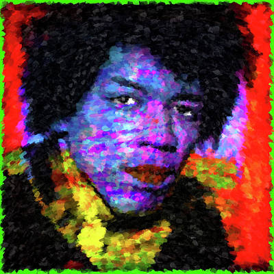 Graphic Digital Art Painting - Purple Haze by Gary Grayson