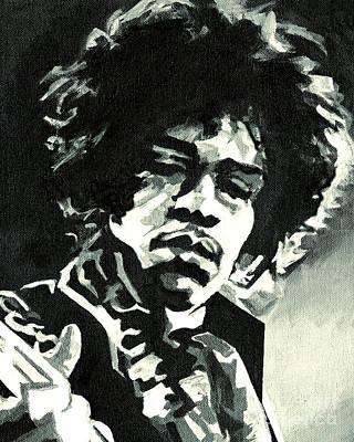 Jimi Hendrix Print by Tanya Filichkin