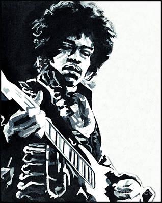 Jimi Hendrix - Inside Out Print by Tanya Filichkin