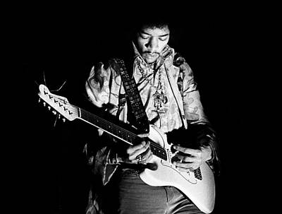 Concert Photograph - Jimi Hendrix Live 1967 by Chris Walter