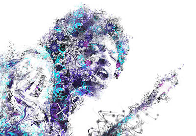 Jimi Hendrix Digital Art - Jimi Hendrix by Bekim Art
