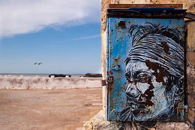 Jimi Hendrix On The Beach Print by Daniel Kocian