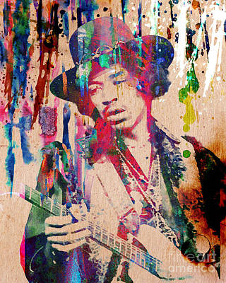 Jimi Hendrix Original Print by Ryan Rock Artist