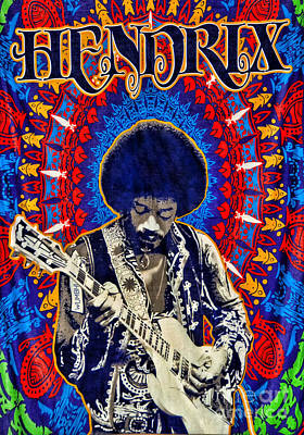 Arts In Wonderland Drawing - Jimi Hendrix by Peter Dang