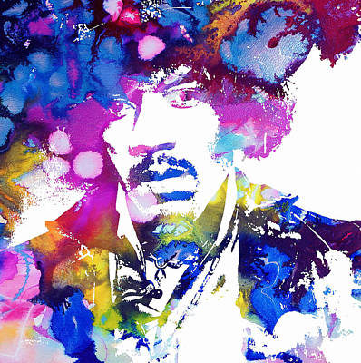 Stratocaster Mixed Media - Jimi Hendrix - Psychedelic by Doc Braham