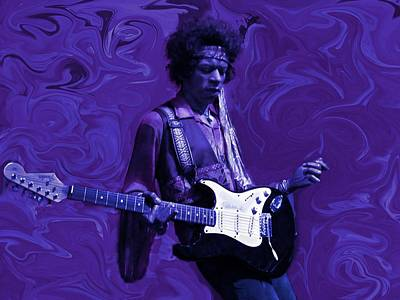 Jimi Hendrix Purple Haze Print by David Dehner