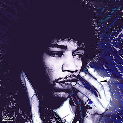 Psychedelic Rock Photograph - Jimi Hendrix Purple Haze  by Tony Rubino