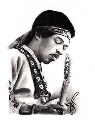 Markle Drawing - Jimi Hendrix by Rosalinda Markle