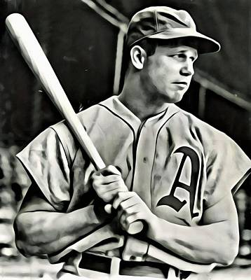Baseball Painting - Jimmie Foxx by Florian Rodarte