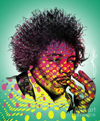 Modern Abstract Digital Art Digital Art Digital Art - Jimmie Hendrix  by Mark Ashkenazi