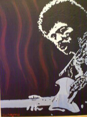 Jimmy Hendrix Painting - Jimmy Has Soul by Dan Wagner