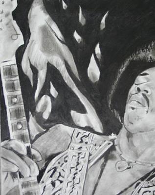 Jimmy Hendrix Print by Aaron Balderas