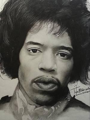 Soul Singer Drawing - Jimmy Hendrix by Lance  Freeman