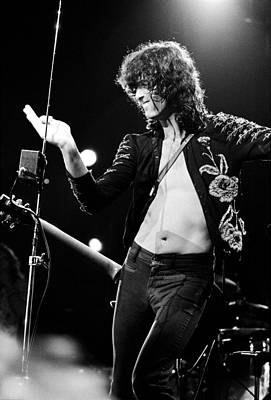 Jimmy Page Photograph - Jimmy Page 1973 by Chris Walter