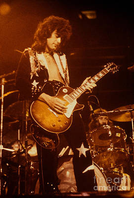 Jimmy Page Photograph - Jimmy Page 1975 by David Plastik
