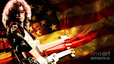 Jimmy Page Digital Art - Jimmy Page Of Led Zeppelin by Marvin Blaine