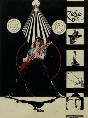 Jimmy Page Of Led Zeppelin Print by Sean Connolly