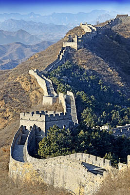 Watch Tower Photograph - Jinshanling Section Of The Great Wall Of China by Brendan Reals
