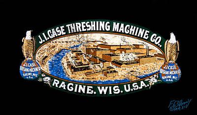 Keck Photograph - J.l. Case Threshing Machine Co Logo by F Leblanc