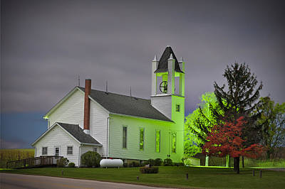Daviess County Photograph - Jo Daviess County Church by Tom Phelan