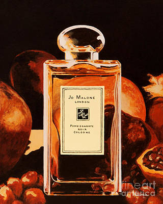 Malone Painting - Jo Malone's 'pomegranate Noir' by Alacoque Doyle