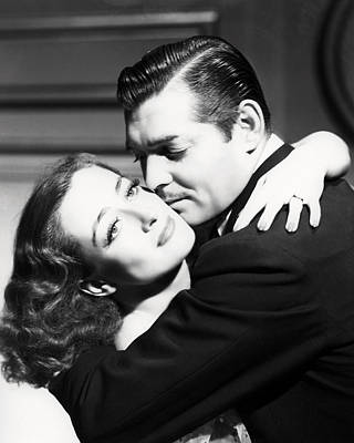 Joan Crawford And Clark Gable Print by Silver Screen