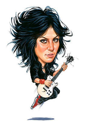Laugh Painting - Joan Jett by Art