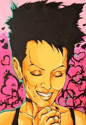 Heartbreaker Painting - Joan Jett by Carlos Garcia