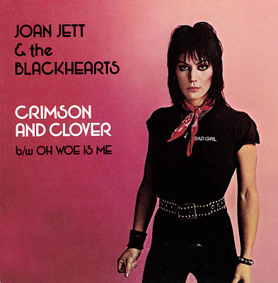 Queen Photograph - Joan Jett - Crimson And Clover 1982 by Epic Rights