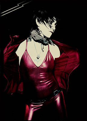 All Around Us Photograph - Joan Jett - Unvarnished 2013 - Back Cover by Epic Rights
