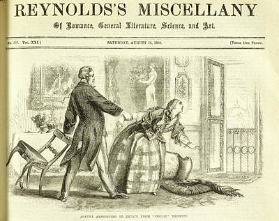 Reynolds Photograph - Joanna Attempting To Escape From 'cousin' by British Library