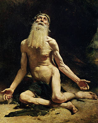 Homeless Painting - Job by Leon Joseph Florentin Bonnat