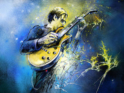 Art Miki Painting - Joe Bonamassa 01 by Miki De Goodaboom